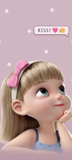 Girl Cartoon Characters, Cartoon Girl Images, Cute Cartoon Pictures, Cute Cartoon Girl, Anime Girl Cute, Cartoon Pics, Bear Cartoon, Cartoon Wallpaper Hd, Cute Wallpaper For Phone