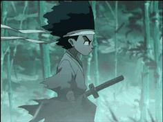 "It is said that this scene in which Huey is dreaming, is based off of the anime titled ""Afro Samurai"". Just a little fun fact. Afro Samurai, Samurai Anime, Dope Cartoon Art, Dope Cartoons, Black Cartoon, Afro Punk Fashion, Anime Titles, Black Comics, Boondocks"