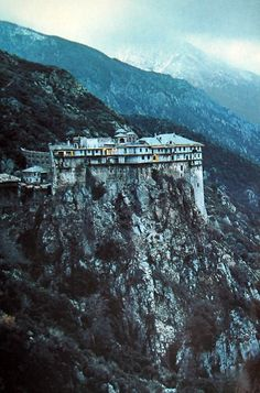Simonopetra Monastery, Mounth Athos, Greece, photographed by James L. Stanfield in 1983