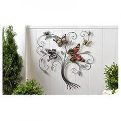 Sculpted Iron Butterfly Design Wall Décor