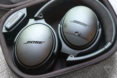 Bose QC-35: Active-noise cancelling makes up for the underwhelming sound.