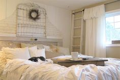 beautiful classy white shabby chic things | Shabby Chic Bedroom with Brown Wall Color 113 Shabby Chic Bedroom ...