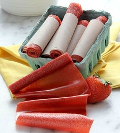Skip the preservatives and DIY your own fruit roll-ups for your kiddos.