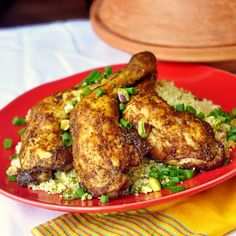 Quick and Easy Moroccan Spiced Baked Chicken with Pistachio Lemon Couscous - You'll want to make this fragrant and flavorful chicken just for the heavenly spicy scent all through the house. Of course it's completely juicy and delicious too.