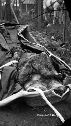 Belle Gunness Crime Scene Photo : Body Recovered From The Farm Of Belle Gunness