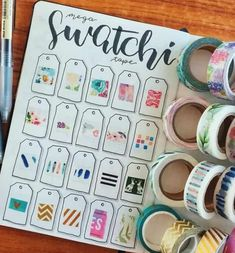 Washi tape has become one of the most popular bullet journal supplies. The fact that there are so many different looking washi tapes to collect, and that they have other uses outside of bullet journaling, . Bullet Journal Washi Tape, Planner Bullet Journal, Bullet Journal Ideas Pages, Bullet Journal Spread, Bullet Journal Layout, Bullet Journal Inspiration, Washi Tape Notebook, Washi Tape Planner, Bellet Journal