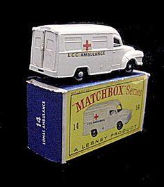 1960s Matchbox 14 Lomas Ambulance In Box