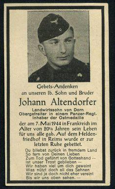 orig. WK2 STERBEBILD - DEATH CARD - TK PANZER REGT. - FRANKREICH 1944