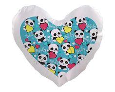 Piccoli panda per il tuo cuscino cuore
