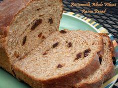 Yesterfood : Buttermilk Whole Wheat Raisin Bread