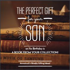Everyone has a different personality and hence their own choice of #gifts. Here is a suggestion from us at #awwstruck. #theperfectgift #giftingideas #wecare, #GiftForSon