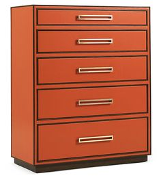 Love how this looks like a stack of Hermes boxes!  one Kings Lane - Brands We Love - Aria Chest, Tangerine