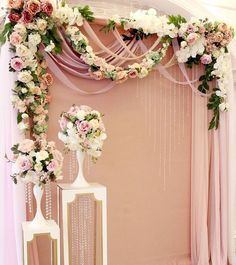 Awesome 30+ Beautiful Floral Backdrop For Your Wedding Decor https://weddmagz.com/30-beautiful-floral-backdrop-for-your-wedding-decor/