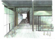 """Boceto de escenografía """"Así es, si así os parece"""". Temporada 2006/2007. VESTUARIO y ESCENOGRAFÍA: ANDREA  D'ODORICO. ILUMINACIÓN: JUAN GÓMEZ-CORNEJO. DIRECCIÓN: MIGUEL NARROS. Stage Set Design, Louvre, Building, Home, Decor, Dogwood Trees, Dressing Rooms, Sketches, Decoration"""