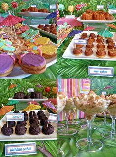 cute ideas for island or tropical party ...island beach tablescape