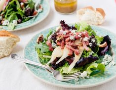 Nothing says summer like a fresh and fruity salad! Use Honey Baked Ham® leftovers, green apples and walnuts to create this quick and easy dish. Honey Baked Ham Company, Breakfast Lasagna, Blue Cheese Salad, Cinnamon Raisin Bread, Smoked Ham, Leftover Ham, How To Cook Eggs, Cooking Recipes, Stuffed Peppers