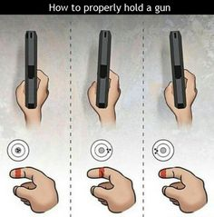 How to properly hold a handgun.  good to know!