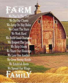 On The Farm - Farm Rules with Barn Wood Sign, Canvas Wall Art, - Christmas, Birthday, FFA, Father's Day, Mother's Day, Farmhouse Decor by HeartlandSigns on Etsy