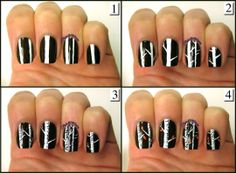 Tutorial After Lying Your Brown Polish Add Thin White Lines With A Nail Art Brush Even Thinner For Branches Com