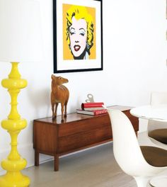 Pop Art  home interior with Marilyn Monroe  by Andy Warhol