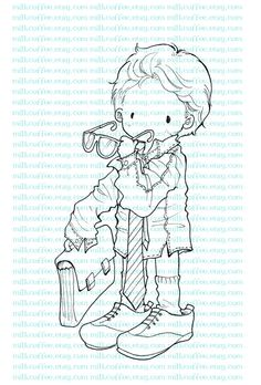 Digital Stamp I Want To Be Like Daddy by MilkCoffee on Etsy, $3.00