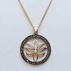 Flying Lizard Lotus Necklace