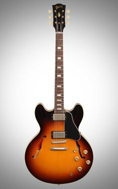 Gibson 1963 ES-335TD Electric Guitar: BurstBucker pickups, a bright-sounding maple top, and a quartersawn mahogany neck bring a legendary guitar back to life in the Gibson 1963 ES-335 TD.