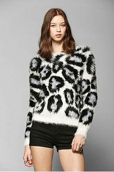 Glamorous Fuzzy Leopard Sweater