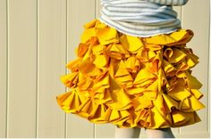 "This skirt is adorable, and so easy! My girls love their ""fluffy"" skirts."