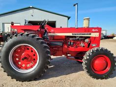 International Tractors, International Harvester, Farmall Tractors, Case Ih, Rubber Tires, Barns, Red, Barn, Shed