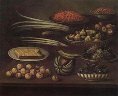 Scuola lombarda del sec. XVII - Natura morta con frutta