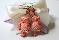 Vintage Owl Earrings- Red by Amie's Jewellery, via Flickr