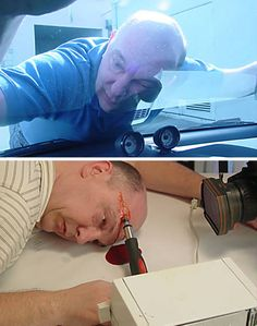 Chuck Lamb, 47 aka The Dead Body Guy probably has the worlds strangest hobby: he likes to play dead. As if thats not enough, he takes it one step further: he takes photos and videos of himself playing dead and posts them on his website, starting in 2005. These bizarre antics have attracted 32 million hits to his website by its 1st anniversary, and several newsprint, TV and radio appearances.
