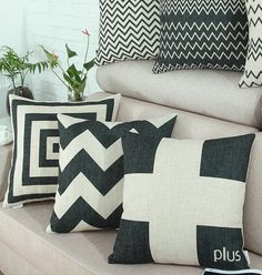 Black Cushions Scatter Cushions covers Sofa Throw Pillow case Bed cushion covers