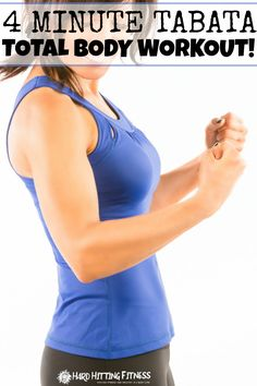 I love tabata workouts and this one is so great when you are in a time crunch…