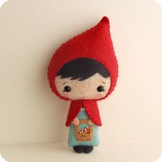 http://wanelo.com/p/3625133/folklore-fairy-tales-myths-and-legends - Fairy Tale Dolls - Li'l Red. Instant download e-pattern. ~ Design Idea