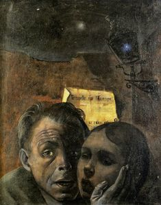 Felix Nussbaum - Fear (Self Portrait with his Niece Marianne) 1943