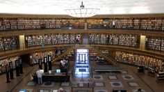 Stockholm Public Library by P-E Fronning, via Flickr