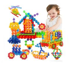 400 pcs Snow Snowflake Building Blocks Toy Bricks DIY Assembling Early Educational Learning Classic Toys Kids Gift-in Blocks from Toys & Hobbies on Aliexpress.com | Alibaba Group