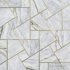 Moderne, waterjet stone mosaic, shown in polished Cirrus and Brass,is part of the Art Deco Collection. Floor Patterns, Wall Patterns, Textures Patterns, Art Deco Tiles, Wall Tiles Design, Floor Design, Cladding Design, Wall Cladding, Art Deco Kitchen