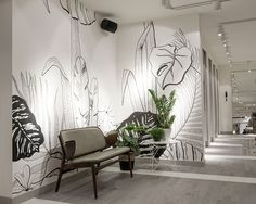 Wall painting in our new store | Costes Fashion