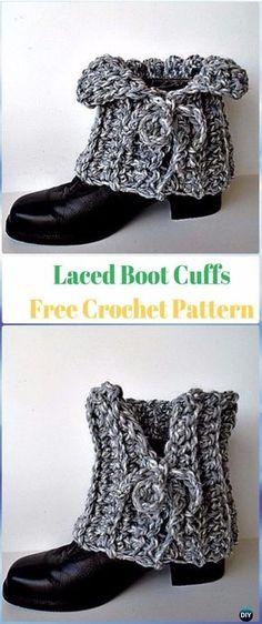 Crochet Laced Boot Cuffs Free Pattern - Crochet Boot Cuffs Free Patterns