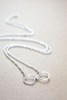 Sterling Silver Infinity Bridesmaid Gift Sideways Infinity