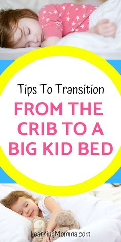Is it time for your toddler to leave their crib and transition to a toddler bed or twin bed? Read these tips about how to make the transition fun and smooth with minimal sleep interruption! Toddler Sleep, Toddler Toys, Baby Sleep, Kids Sleep, Baby Baby, Indoor Activities For Kids, Toddler Activities, Learning Activities, Toddler Learning