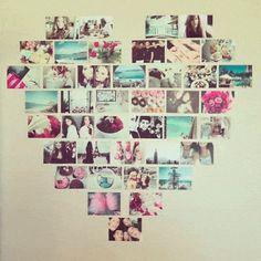 photo wall heart