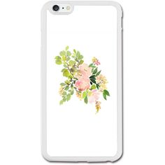 Watercolor Flowers iPhone 6/6S Plus Rubber Case (5.5 Inch) iPhone 6/6S... ($22) ❤ liked on Polyvore featuring accessories and tech accessories