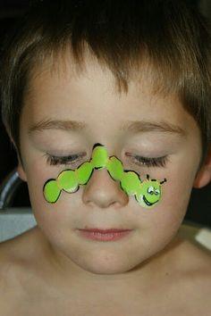 Cute caterpillar face art Jbroomhall makeup artist & body art
