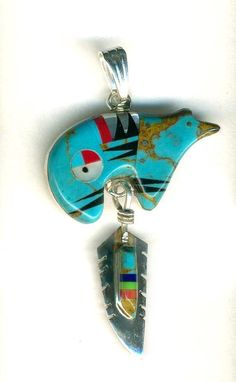 Southwest Sterling Silver Turquoise Bear Claw Pendant Necklace And Bracelet 885344487867 Tucson Gem Show, Navajo, Feather, Pendant Necklace, Turquoise, Gemstones, Sterling Silver, Nice, Ebay