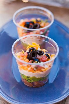 Great idea for 7 Layer Dip...No big globs of dip on your plate...Nice and Neat!