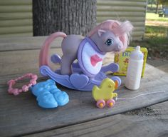 Vintage 1980s My Little Pony Accessories   Baby by Tarpan on Etsy, $25.00